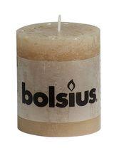 Bolsius stompkaars Rustiek beige 80/68 mm