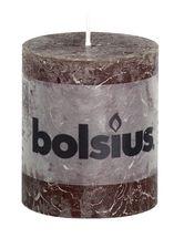 Bolsius stompkaars Rustiek chocoladebruin 80/68 mm