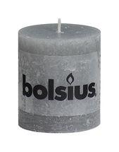 Bolsius stompkaars Rustiek lichtgrijs 80/68 mm