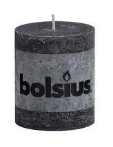 Bolsius stompkaars Rustiek antraciet 80/68 mm