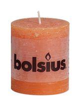 Bolsius stompkaarsen Rustiek oranje 4 stuks