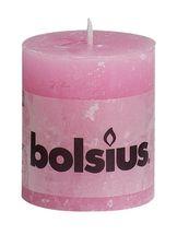Bolsius stompkaars Rustiek roze 80/68 mm