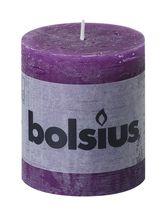 Bolsius stompkaars Rustiek paars 80/68 mm