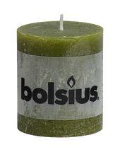 Bolsius stompkaars Rustiek olijfgroen 80/68 mm