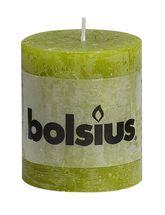 Bolsius stompkaars Rustiek groen 80/68 mm