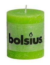 Bolsius stompkaars Rustiek lime 80/68 mm
