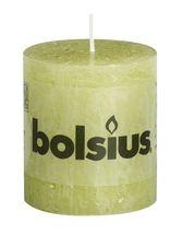 Bolsius stompkaarsen Rustiek pastel groen 4 stuks