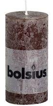 Bolsius stompkaars Rustiek chocoladebruin 100/50 mm