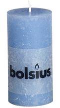 Bolsius stompkaars Rustiek jeans blauw 100/50 mm