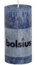 Bolsius stompkaars Rustiek donkerblauw 100/50 mm