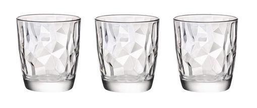 Bormioli Glazen Diamond 30 cl - 3 Stuks