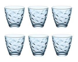 Bormioli Glazen Flora Blauw 25 cl - 6 Stuks