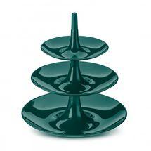 Koziol etagère Babell L emerald groen - 3 laags