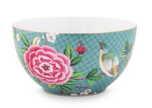 Pip Studio Blushing Birds bowl ø 15cm - blauw