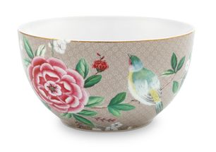 Pip Studio Blushing Birds bowl ø 15cm - khaki