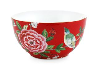 Pip Studio Blushing Birds bowl ø 15cm - rood