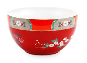 Pip Studio Blushing Birds bowl ø 18cm - rood