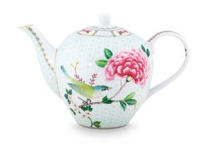 Pip Studio Blushing Birds theepot 1.6 liter - wit