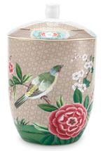 Pip Studio Blushing Birds voorraadpot - khaki