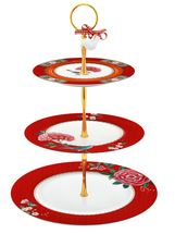 Pip Studio Blushing Birds etagere 3-laags - rood