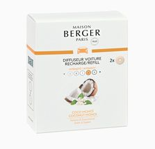 Maison Berger Autoparfum Navulling Coconut Monoi - 2 Stuks