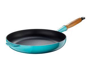 Le Creuset koekenpan Signature caraïbisch blauw Ø 28 cm