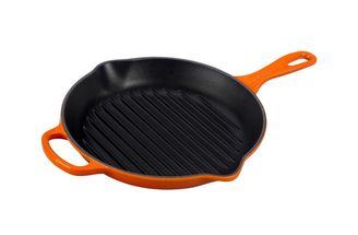 Le Creuset grillpan rond oranje-rood Ø 26 cm