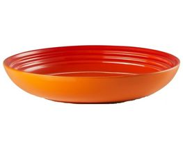 Le Creuset diep bord oranje-rood Ø 22 cm