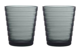 Iittala Aino Aalto glas 22cl - donkergrijs - 2 stuks