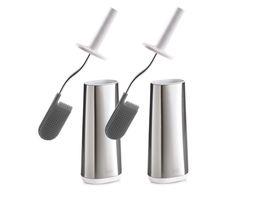Joseph Joseph Flex toiletborstel - rvs - 2 stuks