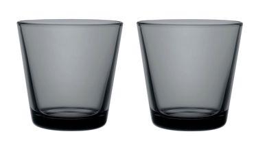 Iittala Kartio glas 21cl donkergrijs - 2 stuks