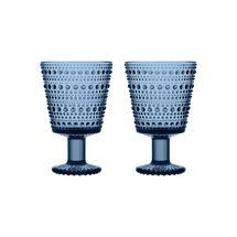 Iittala Kastehelmi glas 26cl - regenblauw - 2 stuks