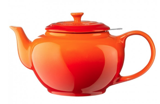 Le Creuset theepot oranje-rood 1.3 liter