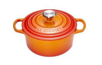 Le Creuset braadpan Signature oranje-rood Ø 18 cm