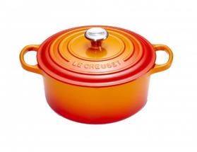 Le Creuset braadpan Signature oranje-rood