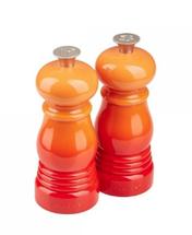 Le Creuset mini peper- en zoutmolen oranje-rood