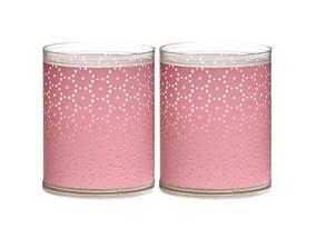 Bolsius kaarsen Sparkle Light kant roze - 2 stuks