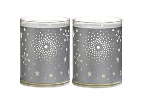 Bolsius kaarsen Sparkle Light heelal zilver - 2 stuks