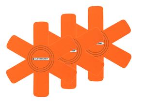 Le Creuset Pannenbeschermers Oranjerood 3-Delig