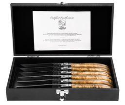 Laguiole Style de Vie Steakmessen Luxury Line Wortelhout