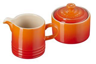 Le Creuset Melk en Suiker Set Oranje-Rood