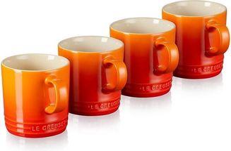Le Creuset Theemokken Oranje-Rood 35 cl - 4 Stuks