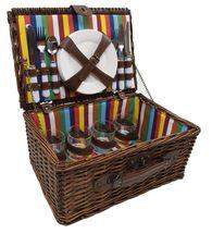 Picknickmand regenboog 8 personen