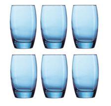 Arcoroc Waterglas Salto Blauw 35 cl - 6 Stuks