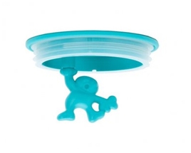 Alessi Reserve Deksel Voor Voorraadpot Gianni A Little Man Holding A Tight - Blauw