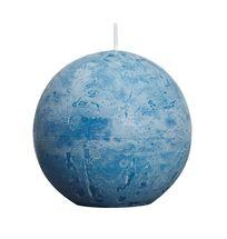 Bolsius bolkaars Rustiek zeeblauw Ø 80 mm