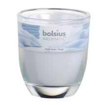 Bolsius Geurglas Aromatic Fresh Linen 120/100 mm