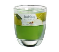 Bolsius geurkaars in glas Aromatic Green Apple 80/70 mm