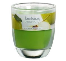 Bolsius Geurglas Aromatic Green Apple 120/100 mm