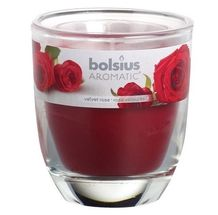 Bolsius geurkaars in glas Aromatic Velvet Rose 120/100 mm